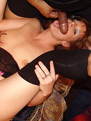 Sweet group sex with a stunning milf Rachael Rains and black guys