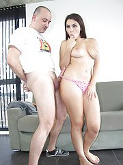 Assy chick with big natural boobies Valentina Nappi fucks in her hole