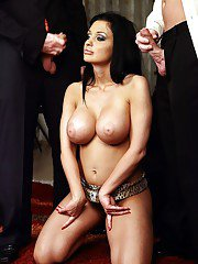 Milf Aletta Ocean is sucking and fucking in a hardcore threesome