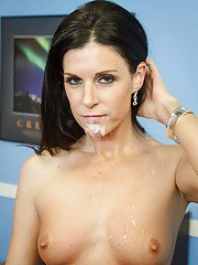 Dark-haired teacher India Summer is sucking a tasty dong on the cam