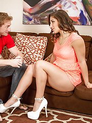 Wife Abella Danger is being drilled hard deep in her wet mouth