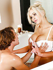 Pretty-looking milf Nina Elle is playing with this small dick