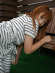 Chihiro Ozawa is showing off her sexy-looking white panties!