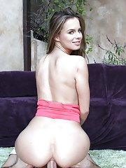 Amateur beauty Jillian Janson was fucked deep in her anal hole