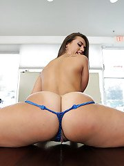 Sweet chick brunette Kelsi Monroe shows off her spicy anal booty