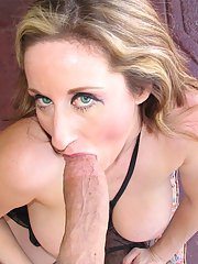 Gonzo model Kitty Lee is banging with this mature dick in her face