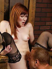 Hardcore milf Claire Robbins is getting fucked in BDSM style