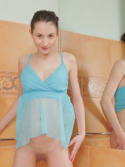 Cute-looking young babe Jennifer is enjoying her undressing session