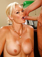 Stunning blonde Rhylee Richards give head and fuck in her face