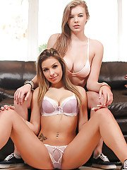 Babes Lexi and Carmen Caliente are demonstrating their big boobies
