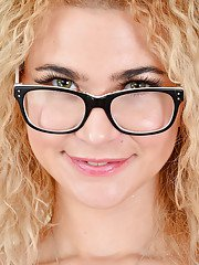 European curly-haired milf Angel Diamonds is rubbing her accurate vag
