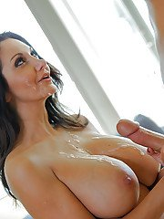 Mature brunette Ava Addams was fucked hard and covered with sperm