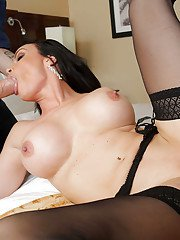 Two big cocks for a hardcore cock-swallowing milf Diamond Foxxx