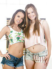 Amateurs Dillion Harper and Jillian Janson are showing their tits