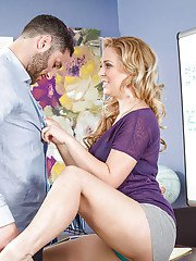 Kinky teacher blonde Cherie DeVille is screwing with her stud