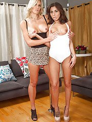 Lesbians Audrey Show  Brittany Bliss are fucking in 69 pose!
