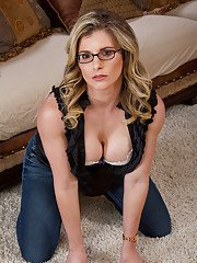 Girlfriend milf Cory Chase is lying on the floor in doggy pose