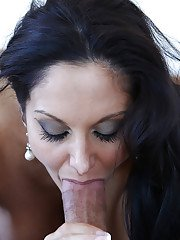Gonzo milf Ava Addams gives head and swallows juicy sperm load