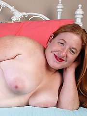 Amazingly-looking fatty mature Keno shows her giant natural tits