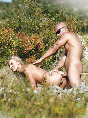 Milf Bea Steel fucks with her outdoor partner on the grass!