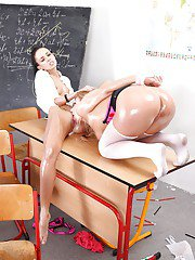 Sweet lesbians Nathaly Cherie and Gina Devine and their toys