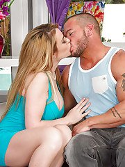 Slender big-tit wife Abby Lee Brazil is being drilled in her mouth