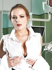 Lusty European babe Candy Alexa shows what is under her skirt