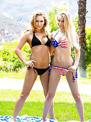 Lesbian Carter Cruise films nice outdoor session with Staci Carr