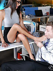 Mature woman Janice Griffith is getting nice fuck from her co-worker