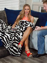 Amateur wife with large bust Nicole Aniston is pounded spoon-style