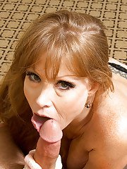 Mature amateur in stockings Darla Crane gives blowjob gets ass fucked