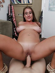 Fat sllut Skyler Luv gets a dick in her ass and jizz on her face