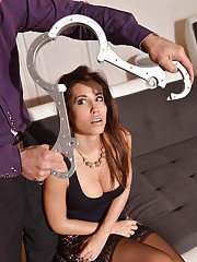 Submissive Euro slut Satin Bloom submits to masters BDSM fantasies