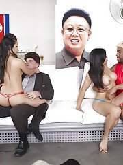 Asian prostitutes Chanel Preston Lucky Starr and Cindy Starfall suck BBC