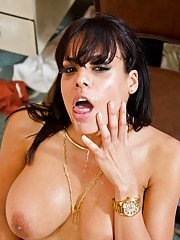 Dark haired MILF Luna Star with big dick chipmunking filthy whore mouth