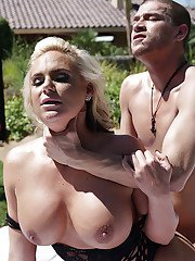 Blonde mom Phoenix Marie taking the cock in gaping asshole