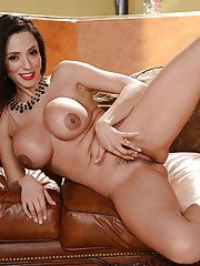 Brunette housewife Ariella Ferrera whipping out her huge fun bags