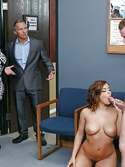 Naughty student Keisha Grey sucking cock and cum in teachers office