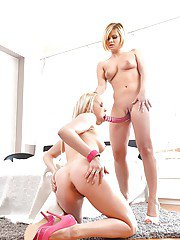 Blonde chicks Angel Black and Lola Taylor go girl on girl in 69 action