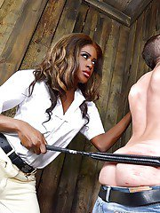 Kinky Ebony mistress Maria Ryder enjoying some fetish fueled BDSM play