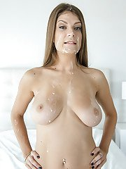 Close ups of tattooed babe Dillion Carter having her shaved pussy used