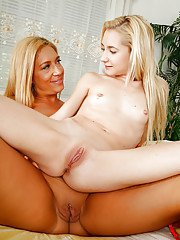 Two gorgeous and sexy hot lesbians Stevie and Odette enjoy each other