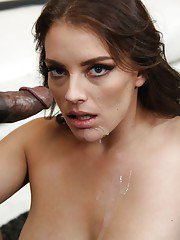 Kayla West loves sucking black dick while her husband watches it