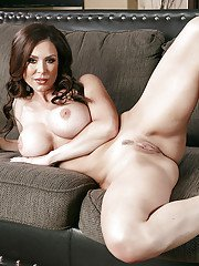 Latina MILF Kendra Lust exposing huge hooters and spread pussy