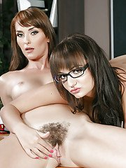 Older lesbian forces nerdy teen girl in glasses to have lesbian sex