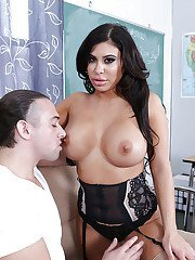 Latina teacher Alexa Pierce taking students in mouth and cunt