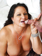 Aged pornstar Leylani Wood taking dick in shaved mature pussy