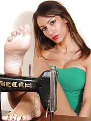 Skinny babe Daniela showing off her barefeet in non nude photos