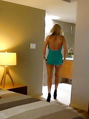 Blonde housewife Sandra Otterson taking a cumshot in mouth POV style