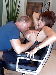 Short haired mature housewife Sandra Otterson having shaved pussy fingered